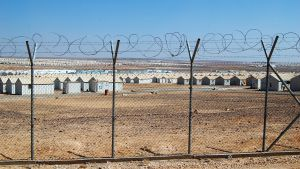 Flyktinglägret Azraq i Jordanien. Här bor för tillfället 35 000 flyktingar från Syrien.