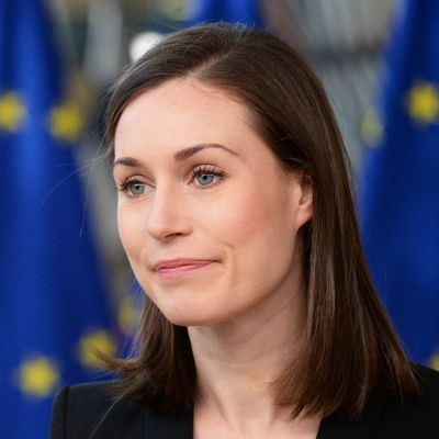 Sanna Marin vid EU-toppmötet i Bryssel