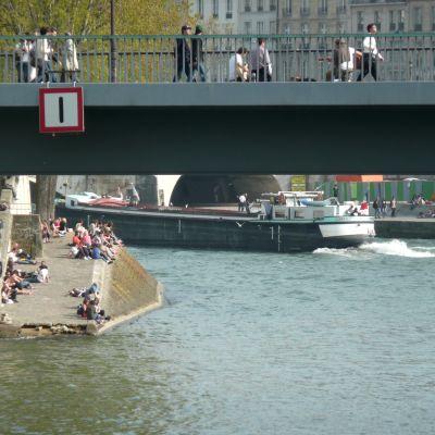 Floden Seine i Paris
