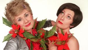 Leila ja Annukka joulutähdissä