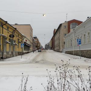 Vy från Borgå å mot Lundagatan