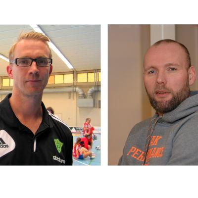 Porträttbilder på Marcus Sjöstedt och Teddy Nordling.