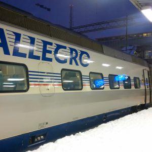 Allegro-tåget till St. Petersburg