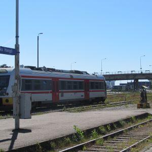Rälsbuss i Hangö.