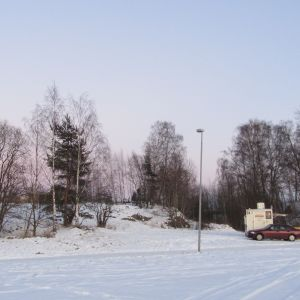 På den här sidan av Norra hamnen skulle stormarknaden byggas.