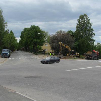 Korsningen mellan Karisvägen och Centralgatan ska få bättre sikt.
