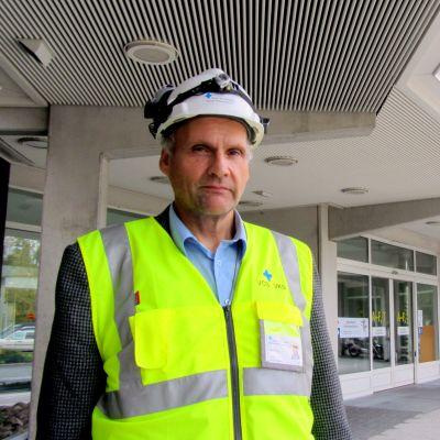 Håkan Knip, teknisk chef på Vasa centralsjukhus.