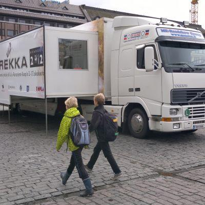 Rymdlångtradaren turnerar i två veckor i hela Finland