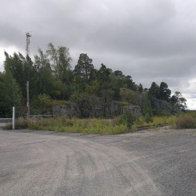 Här i Pansio planeras LNG-terminalen att byggas