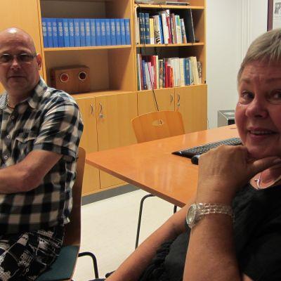 Egon Blomqvist och Lili-Ann Junell-Kousa.