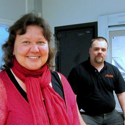 Tiina Puharinen-Finne och Daniel Åkermark
