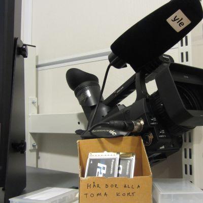 Filmkamera som används för teveprogrammet Närbild.