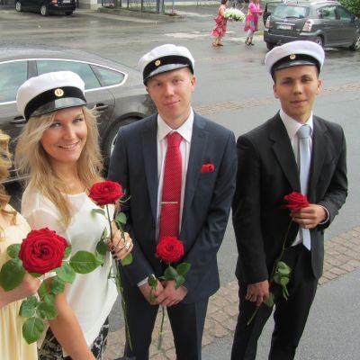 Alexandra Nivukoski, Isabella Sundström, Oskar Paldanius och Axel Norrback