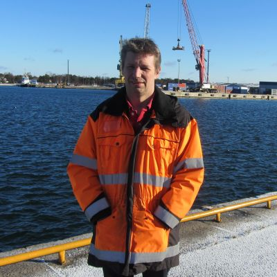 Björn Peltonen, tekniks chef, för Västra hamnen i Hangö