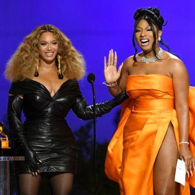 Megan Thee Stallion ja Beyonce palkittiin Grammy-gaalassa.