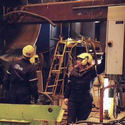 Pori Offshore Construction Oy:n Mäntyluodon telakka.