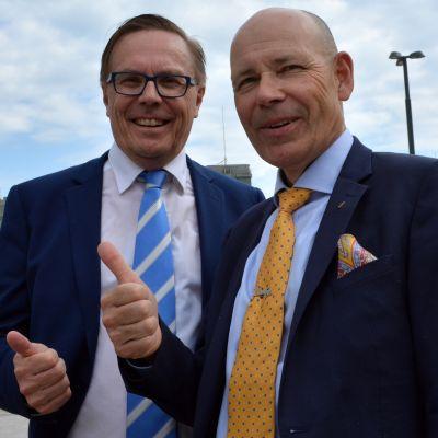 Pekka Vihma ja Jussi Eerikäinen Hämeen Kauppakamarista