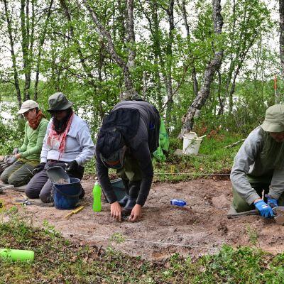 Arkeologisia kaivauksia Soklissa.