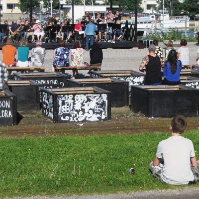 Sommaren kom till Borgå med stadskulturprojektet #URBCULT