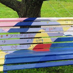 Suvi Aaltos parkbänk är musikaliskt inspirerad