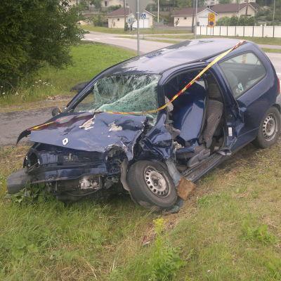 Trafikolycka på Kustö 14.7.2014