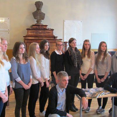 Elever vid Borgå gymnasium