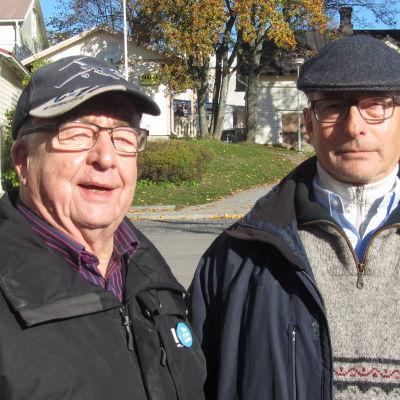 Stig Sundström och Gunnar Klingstedt är nöjda pensionärer i Raseborg