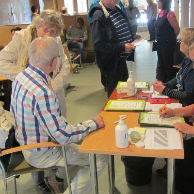 Diabetesdag i Västra hälsostationen i Borgå.