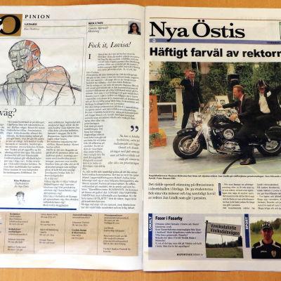 Den ultralokala tidningen Nya Östis utkommer i Lovisatrakten