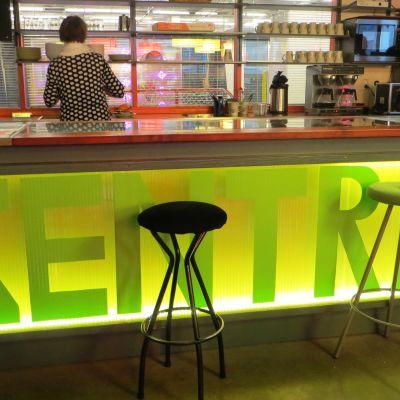 Cafédisken vid ungdomsgården Zentra i Borgå