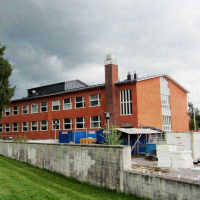 Renoveringen av Kvarnbackens skola i Borgå på slutrakan första veckan i augusti 2012.