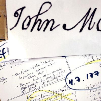 John Mortons namnteckning på självständighetsdeklarationen