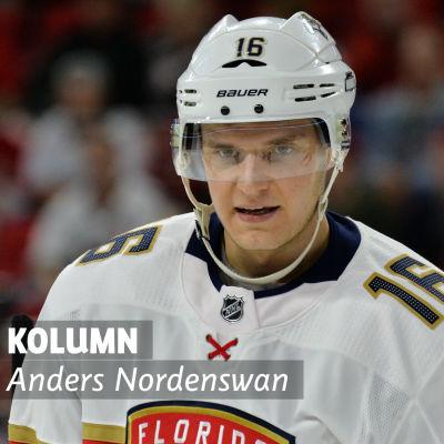 Alexander Barkov i Floridas NHL-tröja.