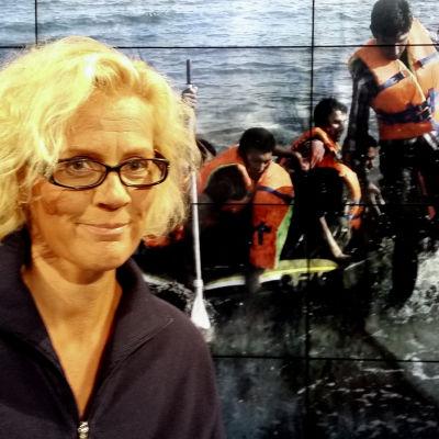 Redaktören Bettina Sågbom i Obs Debatt-studion.