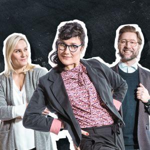 Laura Malmivaara, Minttu Mustakallio ja Lari Halme