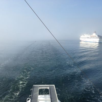 Viking Grace merellä.