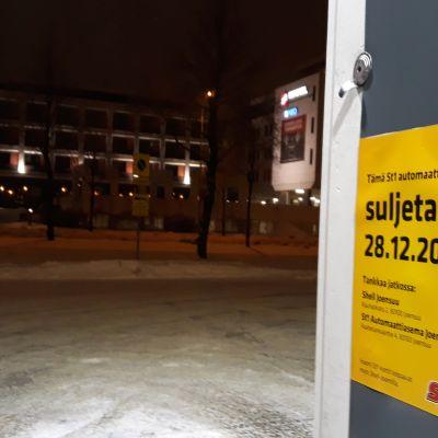 St1 sulkee Itärannassa toimineen kylmän aseman joulun jälkeen.