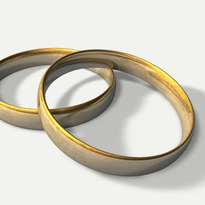 Två ringar i guld