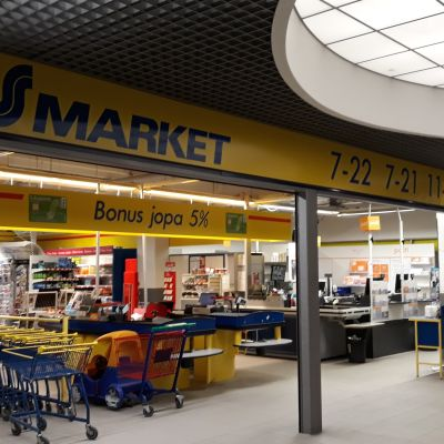 S-market Joensuun keskustassa.