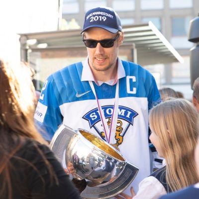 Marko Anttila MM-kultajuhlat Tampere