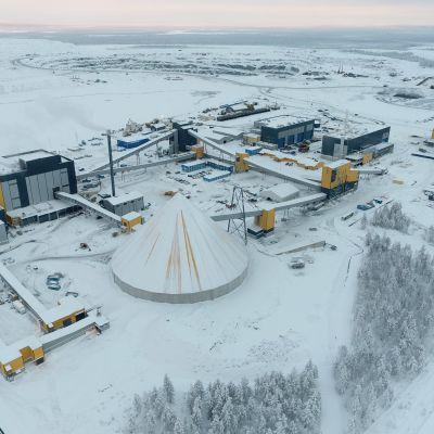 kevitsan kaivoksen malmintuotanto kasvaa noin 9,5 miljoonaan tonniin uusein investointien ansiosta.