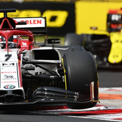 Kimi Räikkönen ajaa Unkarissa