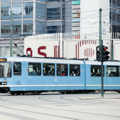 Oslossa joukkoliikenteellä on iso merkitys liikkumisessa