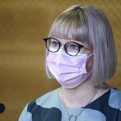 Ministeri Pekonen esittelee hallituksen perhevapaauudistusta