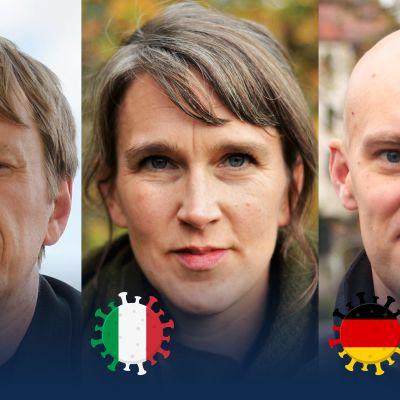 Bildkollage med Anders Mård, Christin Sandberg och Johnny Sjöblom
