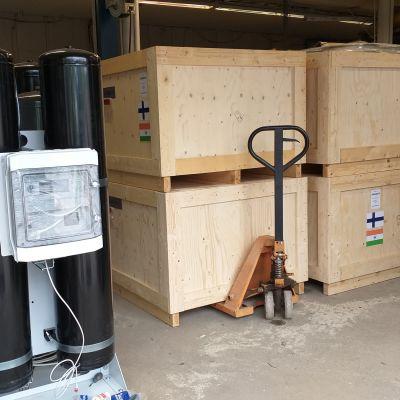 Laser Gas -yhtiö toimittaa happigeneraattoreita Intiaan.