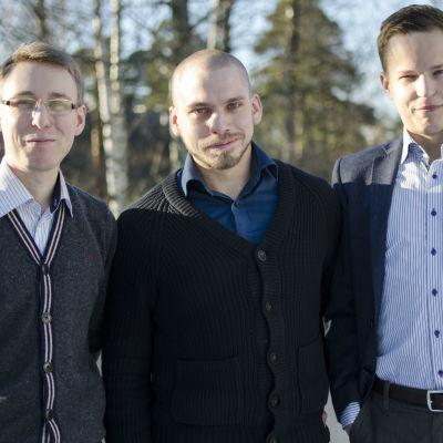 Teknologföreningen, Christian Arrhenius, Jimmy Nylund, Patrik Carlson.