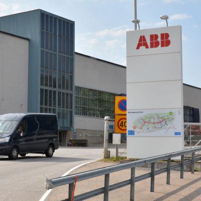 Port till fabriksområdet Strömberg park i Vasa.