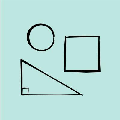 """Piirroskuva """"geometria""""."""