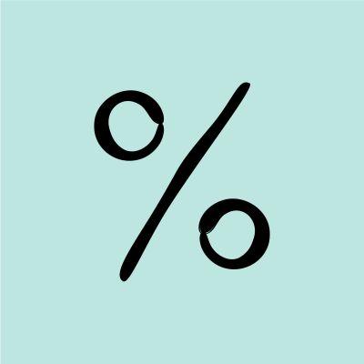 Piirretty prosenttimerkki.
